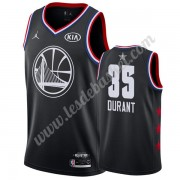 Maillot NBA Pas Cher Golden State Warriors 2019 Kevin Durant 35# Noir All Star Game Swingman..