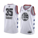 Maillot NBA Pas Cher Golden State Warriors 2019 Kevin Durant 35# Blanc All Star Game Swingman