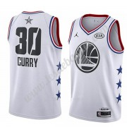 Maillot NBA Pas Cher Golden State Warriors 2019 Stephen Curry 30# Blanc All Star Game Swingman..