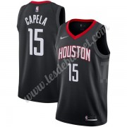 Maillot NBA Houston Rockets 2019-20 Clint Capela 15# Noir Statement Edition Swingman..