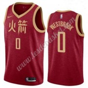 Maillot NBA Houston Rockets 2019-20 Russell Westbrook 0# Rouge City Edition Swingman..