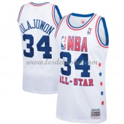 Maillot NBA Pas Cher Houston Rockets Hakeem Olajuwon 34# White 1989 All Star Hardwood Classics Swing..
