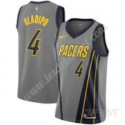 Maillot De Basket Enfant Indiana Pacers 2019-20 Victor Oladipo 4# Gris City Edition Swingman..