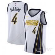 Maillot De Basket Enfant Indiana Pacers 2019-20 Victor Oladipo 4# Blanc Earned Edition Swingman..