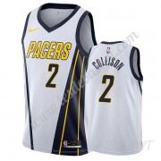 Maillot De Basket Enfant Indiana Pacers 2019-20 Darren Collison 2# Blanc Earned Edition Swingman..