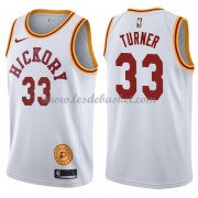 Maillot NBA Indiana Pacers 2018 Myles Turner 33# White Hardwood Classics..