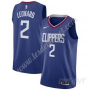 Maillot De Basket Enfant Los Angeles Clippers 2019-20 Kawhi Leonard 2# Bleu Icon Edition Swingman..