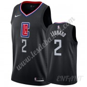 Maillot De Basket Enfant Los Angeles Clippers 2019-20 Kawhi Leonard 2# Noir Statement Edition Swingm..