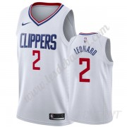 Maillot De Basket Enfant Los Angeles Clippers 2019-20 Kawhi Leonard 2# Blanc Association Edition Swi..