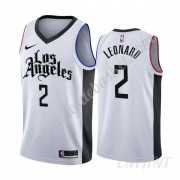 Maillot De Basket Enfant Los Angeles Clippers 2019-20 Kawhi Leonard 2# Blanc City Edition Swingman..