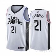 Maillot De Basket Enfant Los Angeles Clippers 2019-20 Patrick Beverley 21# Blanc City Edition Swingm..