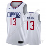 Maillot De Basket Enfant Los Angeles Clippers 2019-20 Paul George 13# Blanc Association Edition Swin..
