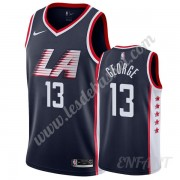Maillot De Basket Enfant Los Angeles Clippers 2019-20 Paul George 13# Bleu Marine City Edition Swing..