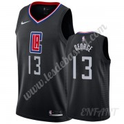 Maillot De Basket Enfant Los Angeles Clippers 2019-20 Paul George 13# Noir Statement Edition Swingma..