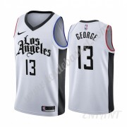 Maillot De Basket Enfant Los Angeles Clippers 2019-20 Paul George 13# Blanc City Edition Swingman..