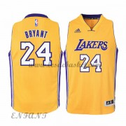 Maillot Basket NBA Los Angeles Lakers Enfant 2015-16 Kobe Bryant 24# Gold Home..