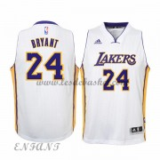 Maillot Basket Enfant Los Angeles Lakers 2015-16 Kobe Bryant 24# Blanc Home