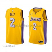 Maillot Basket Enfant Los Angeles Lakers 2018 Lonzo Ball 2# Icon Edition..
