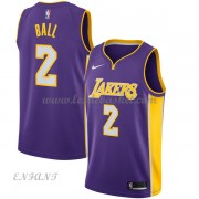 Maillot Basket Enfant Los Angeles Lakers 2018 Lonzo Ball 2# Statement Edition..