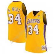 Maillot De Basket Enfant Los Angeles Lakers 1999-00 Shaquille O'Neal 34# Or Hardwood Classics Swingm..
