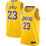 Maillot De Basket Enfant Los Angeles Lakers 2019-20 LeBron James 23# Or Icon Edition Swingman