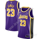 Maillot De Basket Enfant Los Angeles Lakers 2019-20 LeBron James 23# Violet Replica Statement Edition Swingman