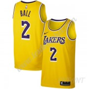 Maillot De Basket Enfant Los Angeles Lakers 2019-20 Lonzo Ball 2# Or Icon Edition Swingman..