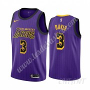 Maillot De Basket Enfant Los Angeles Lakers 2019-20 Anthony Davis 3# Violet City Edition Swingman..