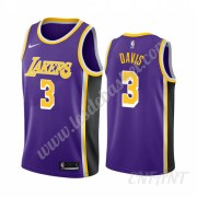 Maillot De Basket Enfant Los Angeles Lakers 2019-20 Anthony Davis 3# Violet Statement Edition Swingm..