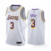 Maillot De Basket Enfant Los Angeles Lakers 2019-20 Anthony Davis 3# Blanc Association Edition Swing..