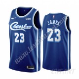 Maillot De Basket Enfant Los Angeles Lakers 2019-20 LeBron James 23# Bleu Classics Edition Swingman
