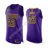 Maillot De Basket Enfant Los Angeles Lakers 2019-20 LeBron James 23# Violet City Edition Swingman
