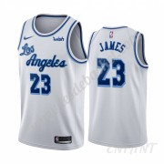 Maillot De Basket Enfant Los Angeles Lakers 2019-20 LeBron James 23# Blanc Classics Edition Swingman..