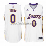 Maillot NBA Los Angeles Lakers 2015-16 Nick Young 0# Blanc Home..