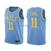 Maillot NBA Los Angeles Lakers 2018 Brook Lopez 11# Light Blue Hardwood Classics..