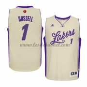 Maillot NBA Pas Cher Los Angeles Lakers Homme 2015 D'Angelo Russell 1# Noël Basket..