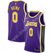 Maillot NBA Los Angeles Lakers 2019-20 Kyle Kuzma 0# Violet Statement Edition Swingman..