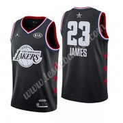 Maillot NBA Pas Cher Los Angeles Lakers 2019 Lebron James 23# Noir All Star Game Swingman..