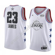 Maillot NBA Pas Cher Los Angeles Lakers 2019 Lebron James 23# Blanc All Star Game Swingman..