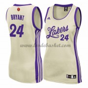Maillot NBA Pas Cher Los Angeles Lakers WoHomme 2015 Kobe Bryant 24# Noël Basket..