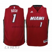 Maillot Basket Enfant Miami Heat 2015-16 Chris Bosh 1# Alternate..