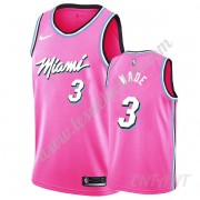 Maillot De Basket Enfant Miami Heat 2019-20 Dwyane Wade 3# Rose Earned Edition Swingman..