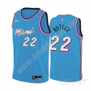 Maillot De Basket Enfant Miami Heat 2019-20 Jimmy Butler 22# Bleu City Edition Swingman..
