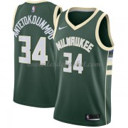 Maillot Basket Enfant Milwaukee Bucks 2018 Giannis Antetokounmpo 34# Icon Edition..