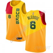Maillot De Basket Enfant Milwaukee Bucks 2019-20 Eric Bledsoe 6# Jaune City Edition Swingman..