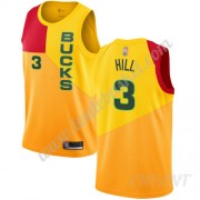 Maillot De Basket Enfant Milwaukee Bucks 2019-20 George Hill 3# Jaune City Edition Swingman..