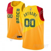 Maillot De Basket Enfant Milwaukee Bucks 2019-20 Jaune City Edition Swingman