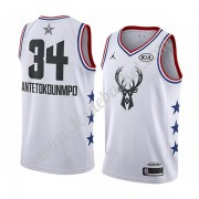 Maillot NBA Pas Cher Milwaukee Bucks 2019 Giannis Antetokounmpo 34# Blanc All Star Game Swingman..