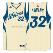 Maillot NBA Pas Cher Minnesota Timberwolves 2015 Karl-Anthony Towns 32# Noël Basket..