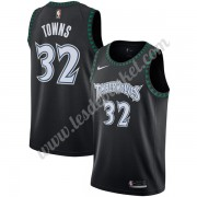 Maillot NBA Minnesota Timberwolves 2019-20 Karl-Anthony Towns 32# Noir Hardwood Classics Swingman..